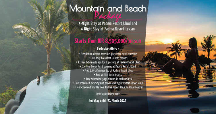 Mountain and Beach Package
