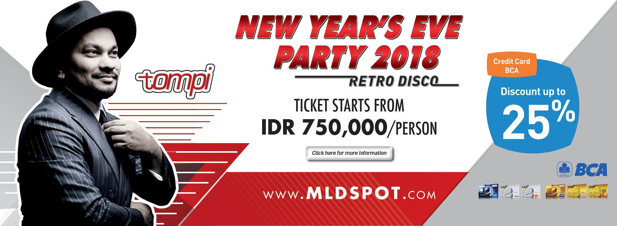 Design x banner pernikahan - Nye 2018 Retro Disco Party